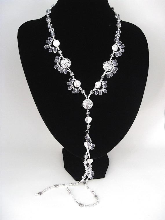 Art Nouveau-Style Necklace with Gorgeous Quartz Briolettes
