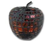Mosaic Red Apple contemporary art modern art  for home decor decorative orb faux fruit object fruit decor