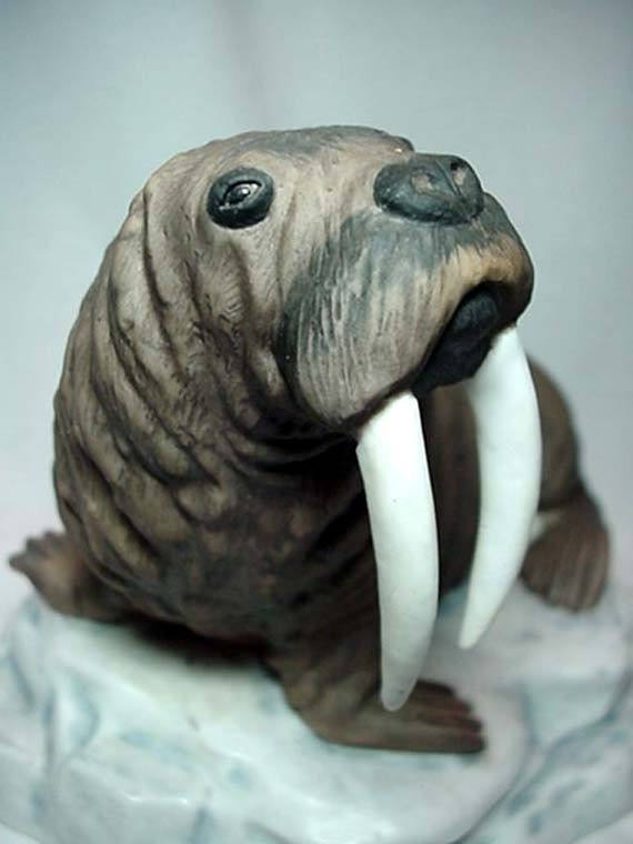 Walrus Figurine by Forever Nature's sculptur Fred Aman 1979 Limited Edition