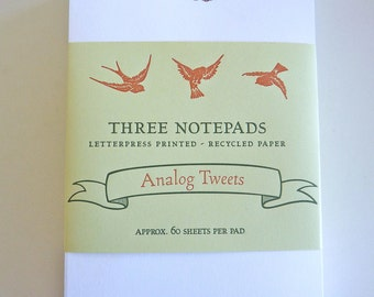 Analog Tweets Notepad set