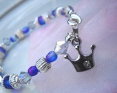 Small Princess Crown Baby/Toddler/Child Charm Bracelet or Anklet