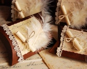 Romantic Feather Pillow Favour Boxes - set of 4