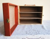 Vintage Box Hinged Handle and Shelves