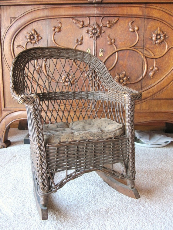 Antique Wicker Rocking Chair Child S Rocking Chair New