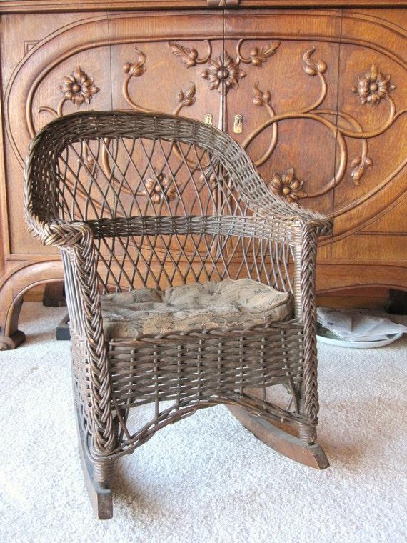 Antique Wicker Rocking Chair Child S Rocking By