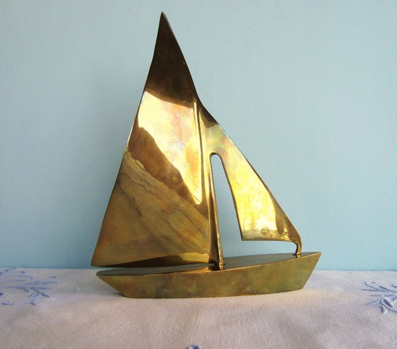 Brass Sailboat - Solid Brass Sailboat by Gatco