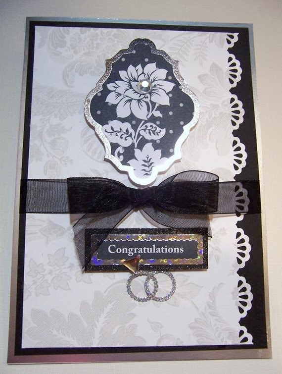 Congratulations Wedding or Shower handmade card
