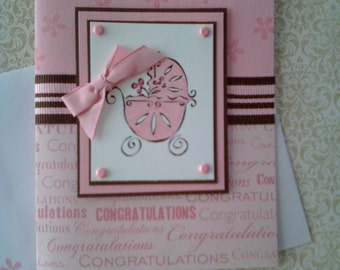 Baby Girl Congratualtions Card