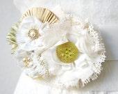 Floral Corsage, Bridal Sash Dress Pin, Wedding Sash Flower, Prom Accessory, Flower Girl Dress Sash, Wedding Party Accessory