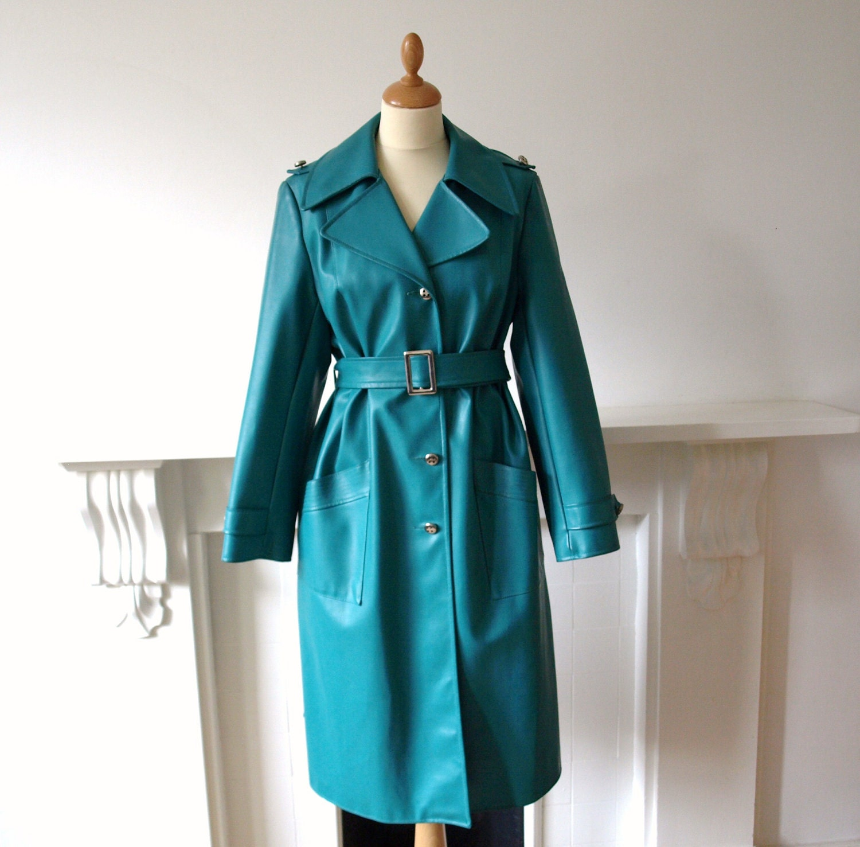 Vintage 1970s Dannimac Teal Blue Green By Pennydreadfulvintage