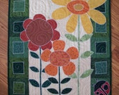 May Flowers Quilted Wall Hanging Mini Quilt
