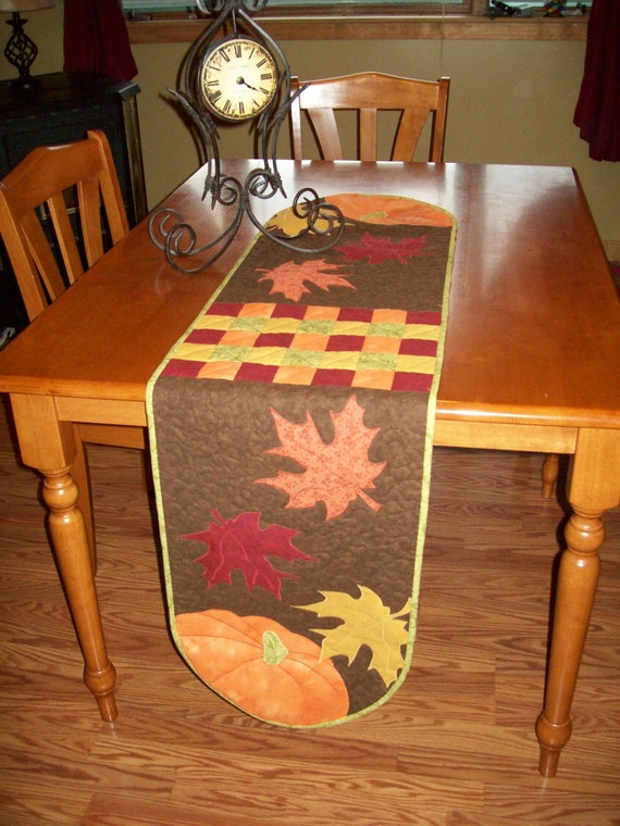 Harvest Quilted Table Runner