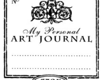 Art Journal Shabby Chic Rubberstamp