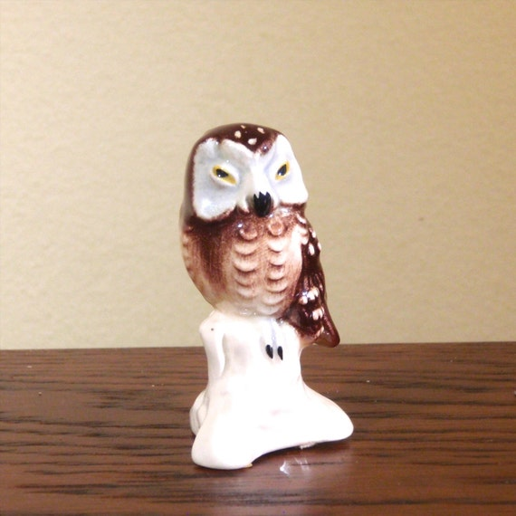 Goebel Ceramic Figurine Of Brown And White Owl By