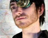 Steampunk LED airship pirate eye patch