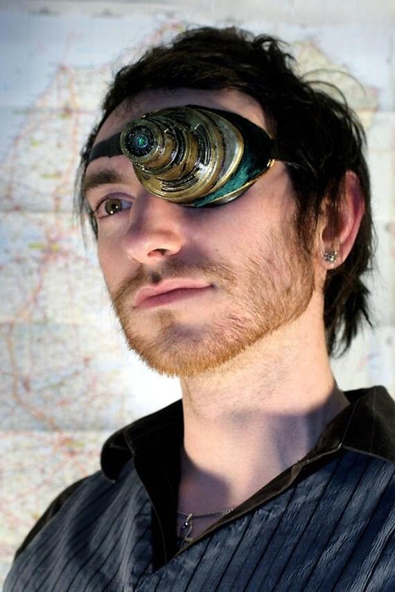 Steampunk LED airship pirate eye patch