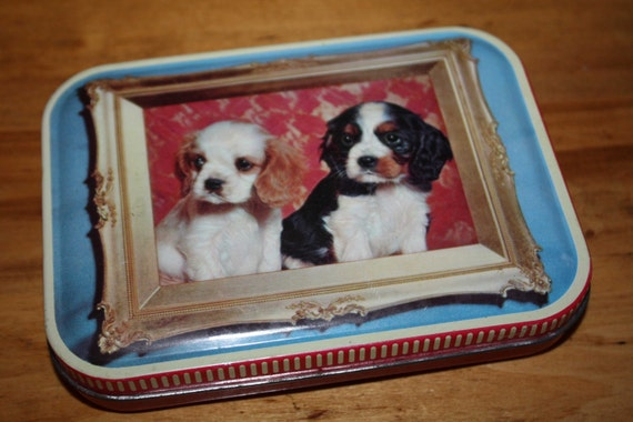 Vintage TOFFEE TIN - HORNER - dogs - puppy