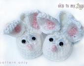 Little Bunny Foo Foo - Crochet Pattern - Baby Slippers - Easter - Bunny - Rabbit - Baby Booties - Toddler Shoes