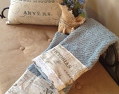 2 Shabby Chic French Towels-Reserved for Kimberly Hudson