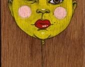 my eye. original painting on wood