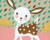 deerest, original mini painting