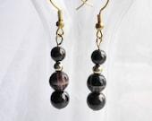 Brown Earrings - Chocolate Brown Swarovski Pearl Earrings - On Sale