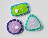 ON SALE - Phytoplankton Magnet Set - Blue Green Algae Purple Bacteria and Diatom - Biology Ecology Microbes