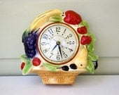 Wall Clock in a Fruit Basket Design from the Mid Century