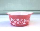 Pink Gooseberry Pyrex Casserole