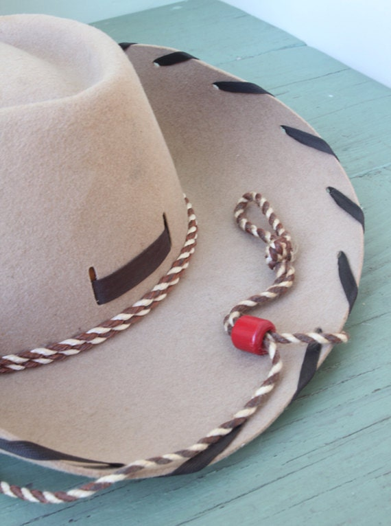 Vintage Tan Child's Cowboy Hat