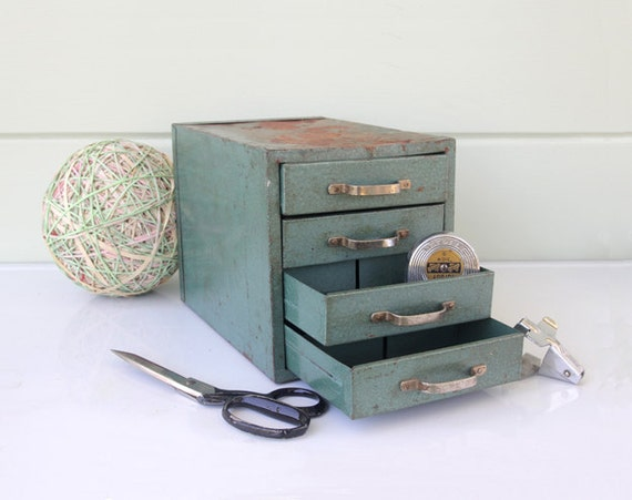 Industrial Metal Set of Drawers