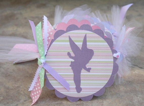 Items Similar To Whimsical Silhouette Tinkerbell Fairy