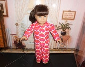 """peace sign flannel pajamas  fit 18"""" American girl doll"""