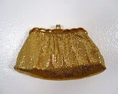 Whiting and Davis Co. Gold Clutch and Pouch (FREE SHIPPING w/n the USA)