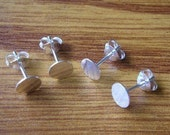 100 Pairs 925 Sterling Silver Earring Posts and Earring Backs (4 mm Pad).