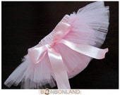Tutu baby bloomers diaper covers and skirt in vintage style pink petit ballerine photo prop