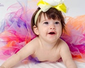 Colored tutu ruffled baby bloomers diaper covers and skirt in vintage style colorful petit ballerine - photo prop