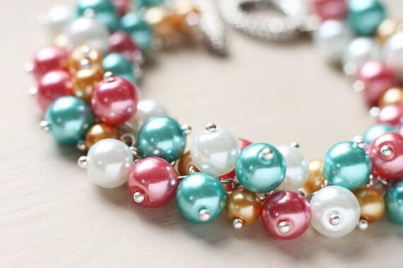 Pearl Cluster Bracelet - Summer Dreams