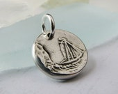 Sea Dreams - Artisan PMC Jewelry, Pendant in Fine Silver with Sterling Finding