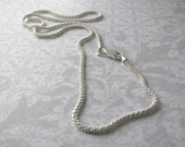 "Sterling Silver 20"" Italian Bombata Chain Necklace"