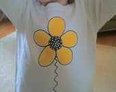 Size 2T and  3T Yellow Hippie Daisy Tee