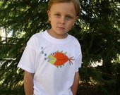 Boy's Size Large Scary Fish Tee Shirt