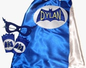 Custom Embroidered Vintage Bat Superhero Cape Pack with Cape, Cuffs, and Mask