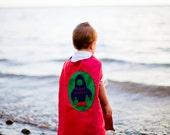 Custom Embroidered Rocket Superhero Cape