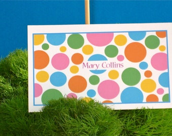 Calling cards or gift cards personalized, birthday cards for children, tweenies (20)