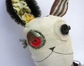 "UPCYCOOLS - Handmade Plush Monster  ""ZED""  Unique Original Upcycled Doll"
