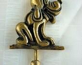 Vintage Dog Brass Hook