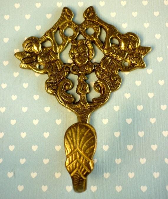 Vintage Angel Hanger Brass