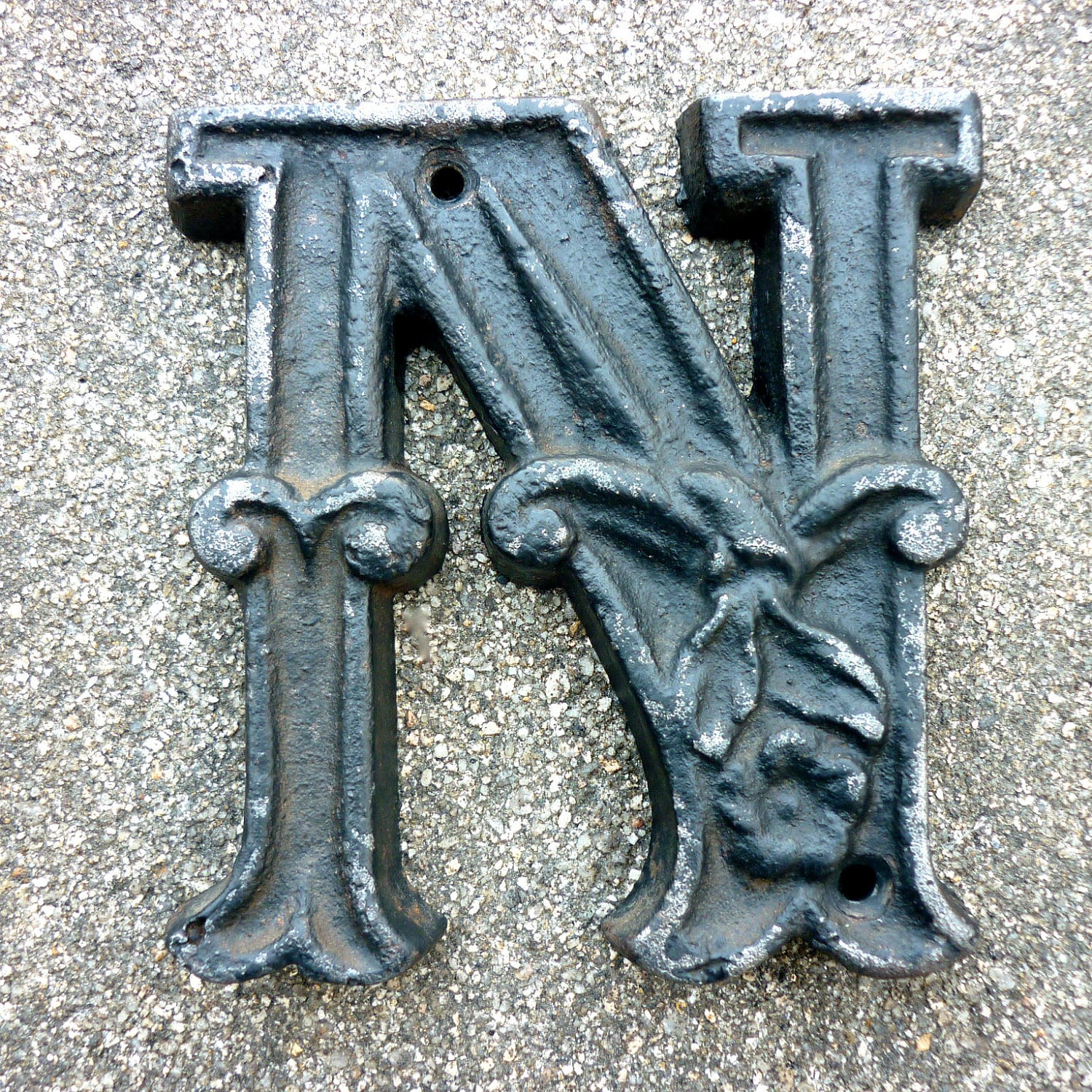 Vintage Cast Iron Letter N by LisbonStory on Etsy