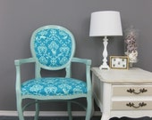 RESERVED for Joanna - Wildlife damask chair
